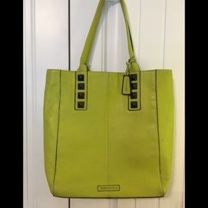 BCBGMaxAzria Lime green real leather purse Bag